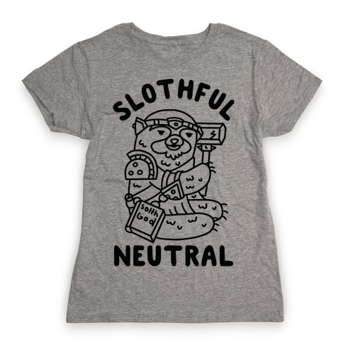 Slothful Neutral Sloth Cleric Womens T-Shirt