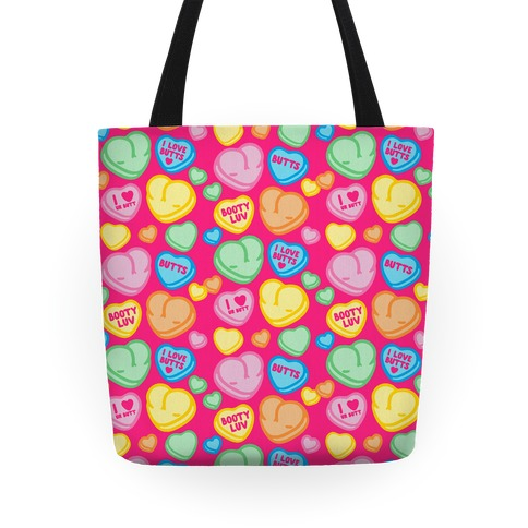 Candy Heart Butts Tote