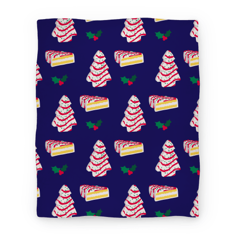 Holiday Tree Cake Pattern Blanket