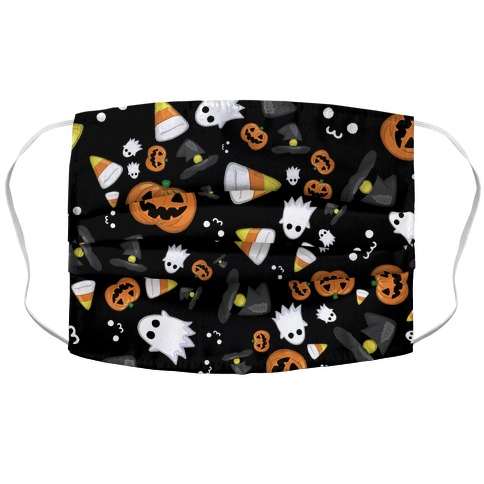 Spoopy Halloween Pattern Accordion Face Mask