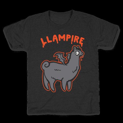Llampire White Print Kids T-Shirt