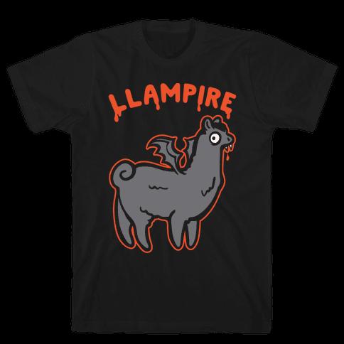 Llampire White Print Mens T-Shirt