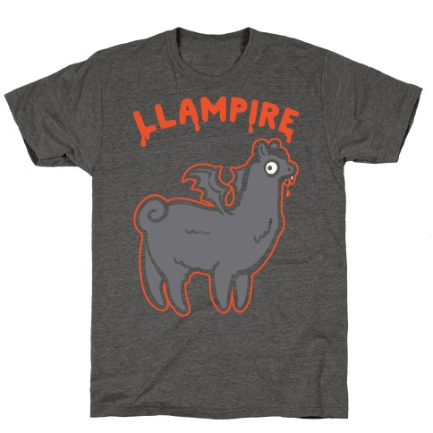 Llampire White Print T-Shirt