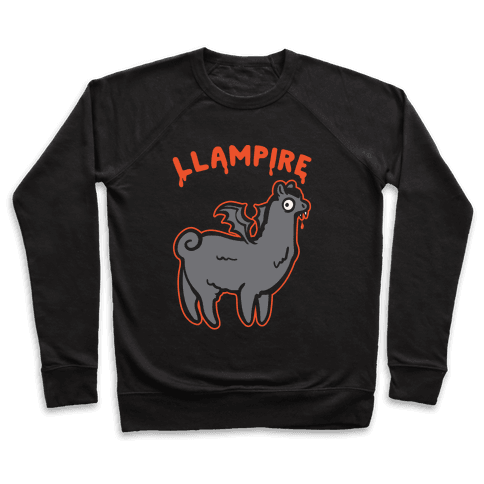 Llampire White Print Pullover