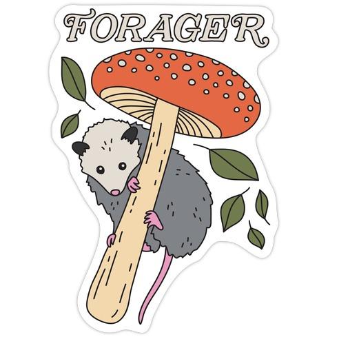 Forager Opossum Die Cut Sticker
