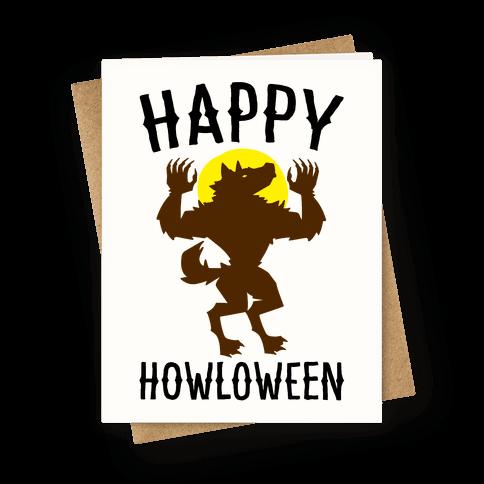 Happy Howloween Werewolf Parody Greeting Card