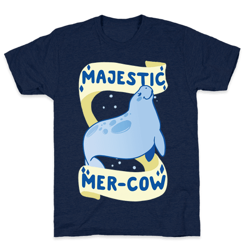 Majestic Mer-Cow Mens T-Shirt