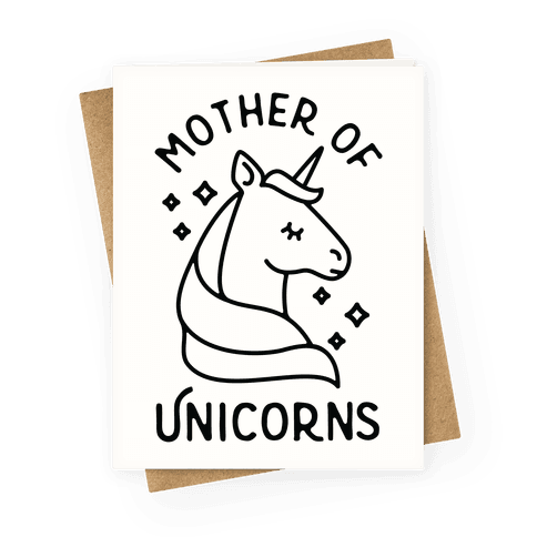 Mother Of Unicorns Greeting Card