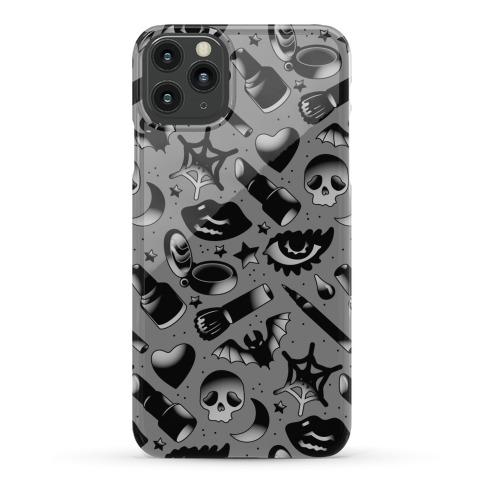 Goth Makeup Pattern Phone Case