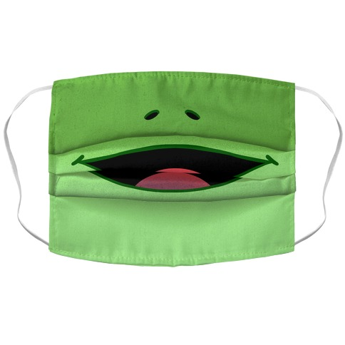 Frog Face Accordion Face Mask