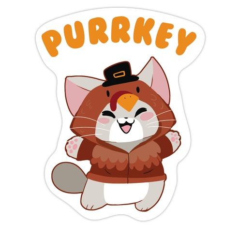 Purrkey Die Cut Sticker