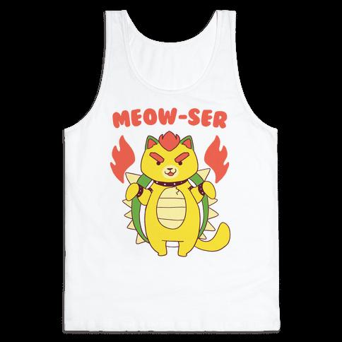 Meow-ser Bowser Tank Top