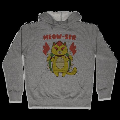 Meow-ser Bowser Hooded Sweatshirt