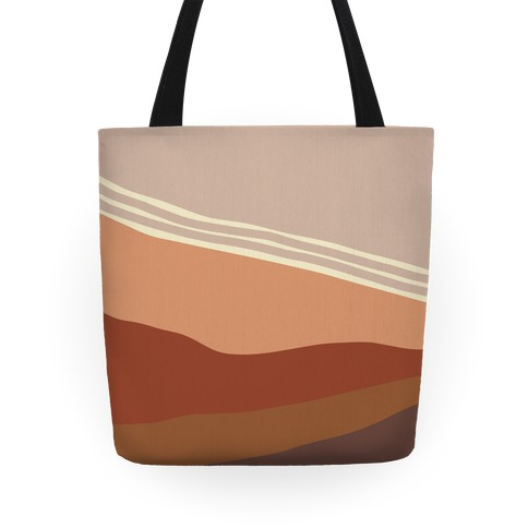Terracotta Peach Sunset Tote