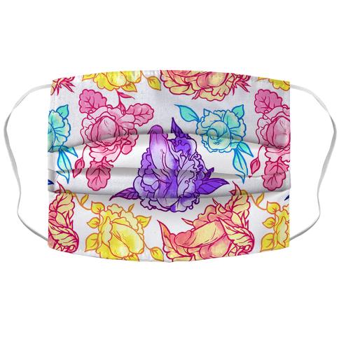 Rainbow Penis Pattern Accordion Face Mask