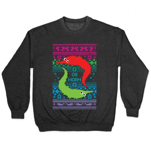 Oh Worm Ugly Sweater Pullover