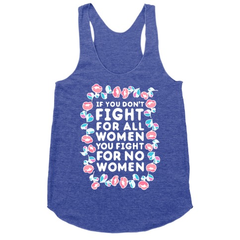 Fight For All Women Racerback Tank Top