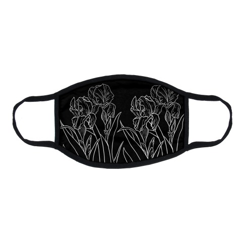 Iris Flowers Flat Face Mask