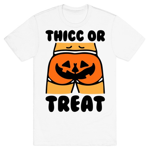 Thicc Or Treat Pumpkin Butt T-Shirt