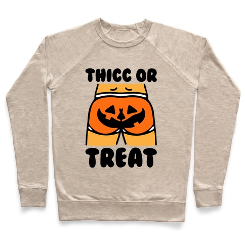 Thicc Or Treat Pumpkin Butt Pullover