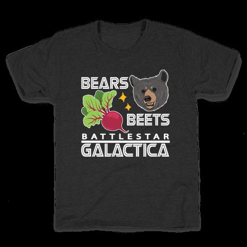 Bears. Beets. Battlestar Galactica.  Kids T-Shirt