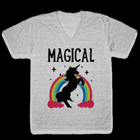 Magical Besties 1 (cmyk) V-Neck Tee Shirt