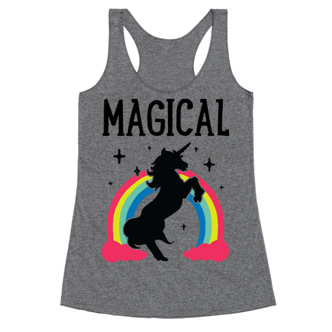 Magical Besties 1 (cmyk) Racerback Tank Top