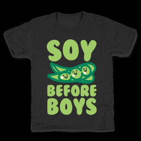 Soy Before Boys White Print Kids T-Shirt