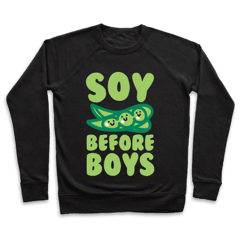 Soy Before Boys White Print Pullover