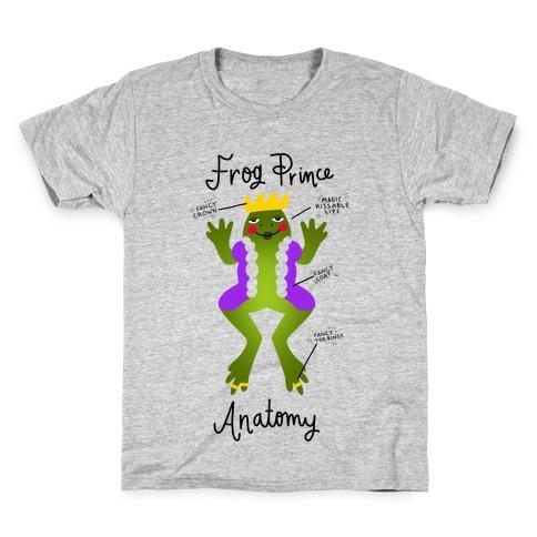 Frog Prince Anatomy Kids T-Shirt
