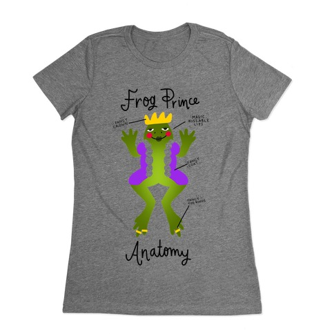 Frog Prince Anatomy Womens T-Shirt