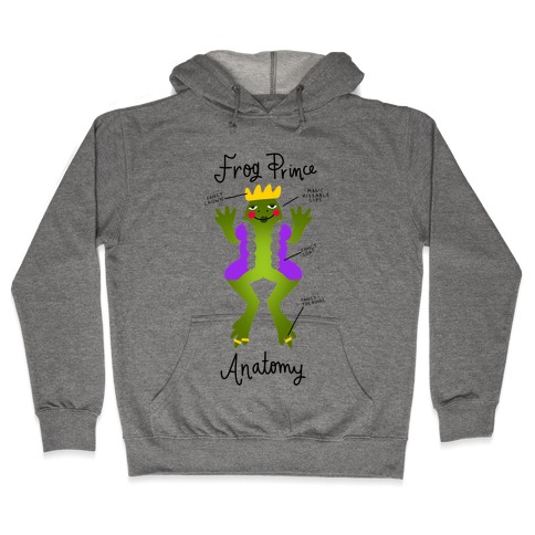 Frog Prince Anatomy Hooded Sweatshirt