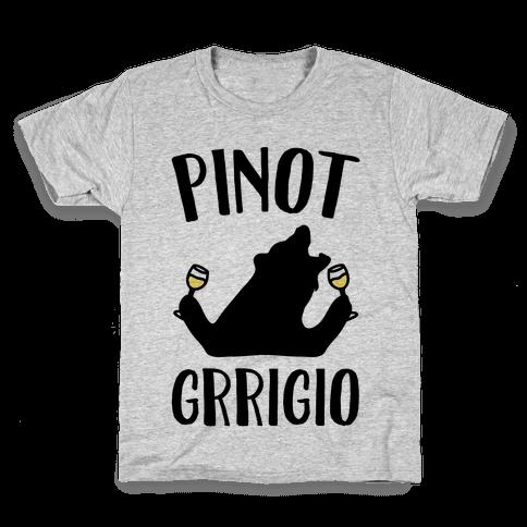 Pinot Grrigio Kids T-Shirt