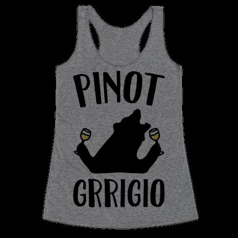 Pinot Grrigio Racerback Tank Top