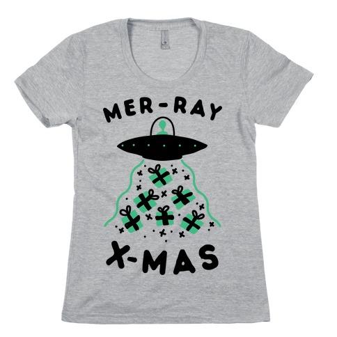 Mer-RAY X-mas Womens T-Shirt