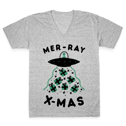 Mer-RAY X-mas V-Neck Tee Shirt