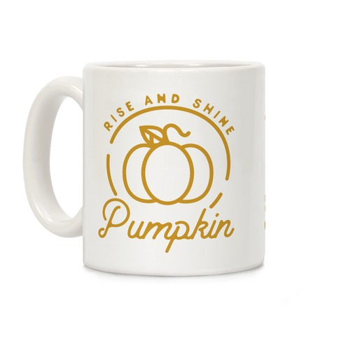 Rise and Shine Pumpkin Coffee Mug