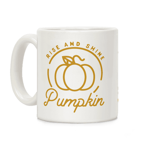 Rise and Shine Pumpkin Coffee Mug