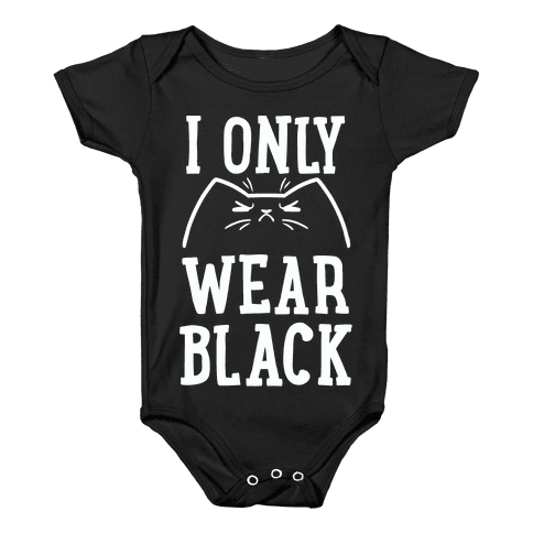 This Cat Only Wears Black Baby Onesy