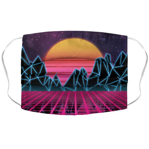 Synthwave Accordion Face Mask