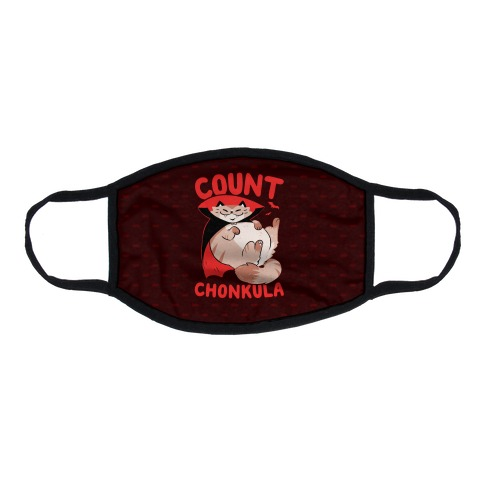Count Chonkula Flat Face Mask