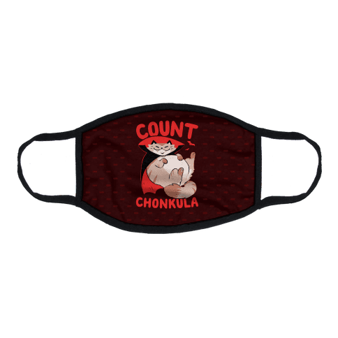 Count Chonkula Flat Face Mask