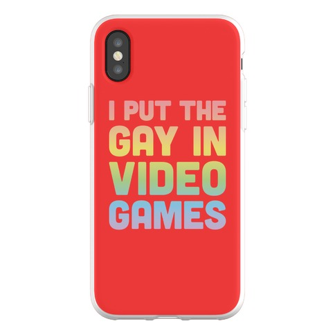 I Put The Gay In Video Games Phone Flexi-Case