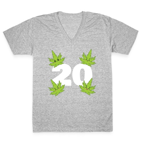 4 Leaves And #20 V-Neck Tee Shirt