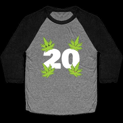 4 Leaves And #20 Baseball Tee