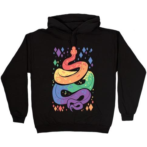 Pride Snakes: Gay Hooded Sweatshirt