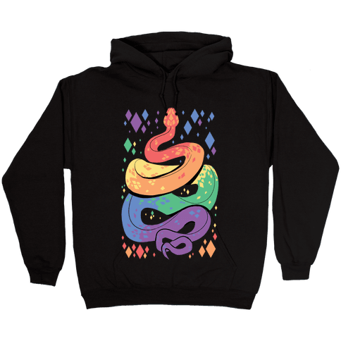 Pride Snakes: Gay Hooded Sweatshirt
