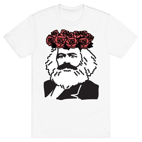 Flower Crown Karl Marx T-Shirt