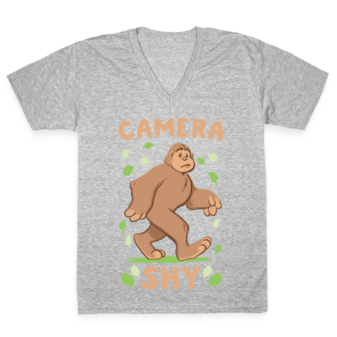 Camera Shy V-Neck Tee Shirt