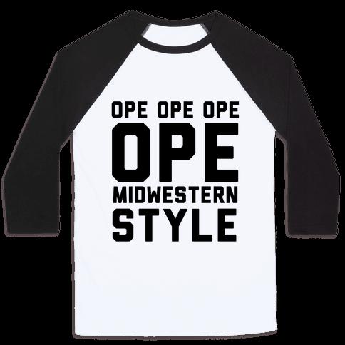 Ope Midwestern Style Baseball Tee